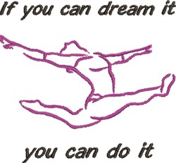 You Can Do It embroidery design
