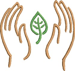 Hands Outline embroidery design