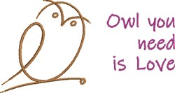 Owl You Need embroidery design