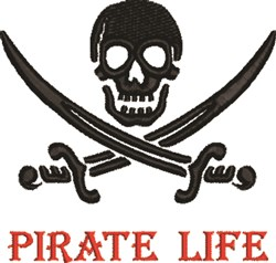 Pirate Life embroidery design