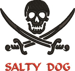 Salty Dog embroidery design