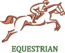 Equestrian embroidery design