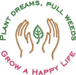 Plant Dreams embroidery design