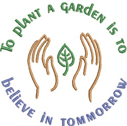Plant A Garden embroidery design