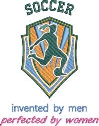 Soccer Women embroidery design