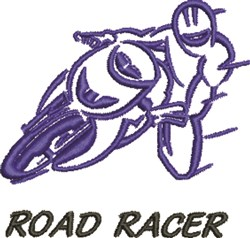 Road Racer embroidery design