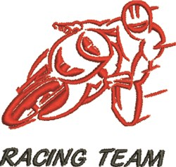 Racing Team embroidery design