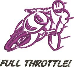 Full Throttle embroidery design