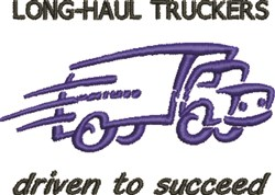 Long-Haul Truckers embroidery design