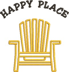 Adirondack Chair Happy Place embroidery design