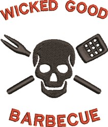 Wicked Good Barbecue embroidery design