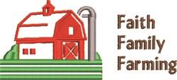 Faith, Family, Farming embroidery design
