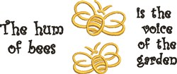 The Hum Of Bees embroidery design