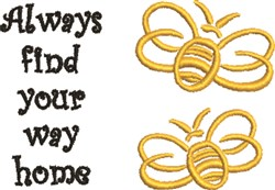 Find Your Way Home embroidery design