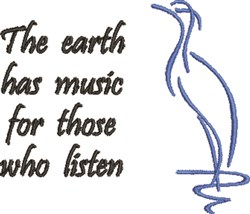 The Earth Has Music embroidery design