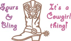 Its A Cowgirl Thing embroidery design