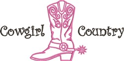 Cowgirl Country embroidery design