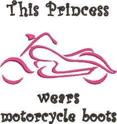 Princess Wears Motorcycle Boots embroidery design