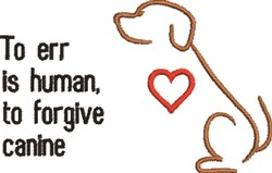To Forgive, Canine embroidery design