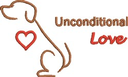 Unconditional Love embroidery design