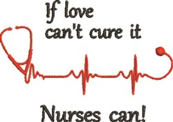 Nurses Can Cure Anything! embroidery design