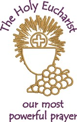 The Holy Eucharist embroidery design