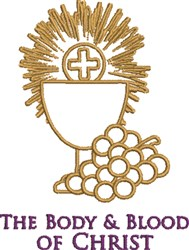 The Body Of Christ embroidery design