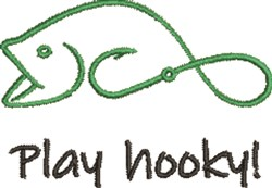 Play Hooky embroidery design