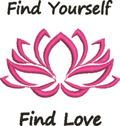 Find Yourself Find Love embroidery design