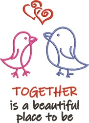 Together Is Beautiful embroidery design