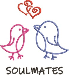 Soulmates embroidery design