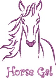 Horse Gal embroidery design