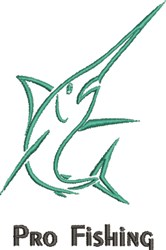 Pro Fishing embroidery design