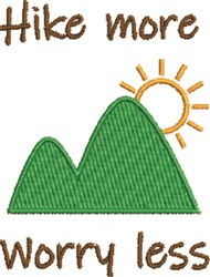 Hike More Worry Less embroidery design