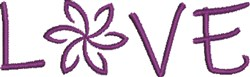 Love & Flowers embroidery design