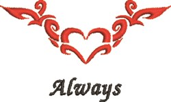 Always Heart Tattoo embroidery design