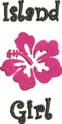 Island Girl Hibiscus embroidery design