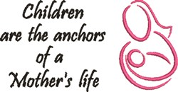 A Mothers Life embroidery design