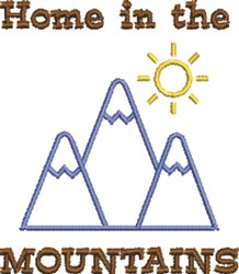 Home In The Mountains embroidery design