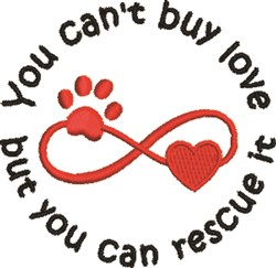 Rescue Animal Love embroidery design