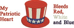 Red, White & Blue embroidery design