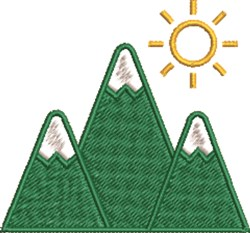 Summer Mountains embroidery design