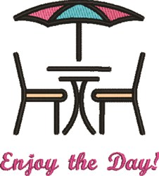 Table & Chairs embroidery design