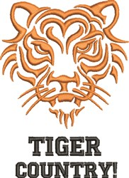 Tiger Country embroidery design