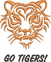 Go Tigers! embroidery design