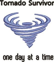 Tornado Survivor embroidery design