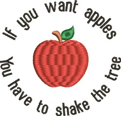 You Want Apples embroidery design