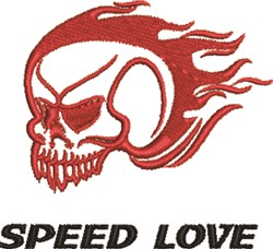 Speed Love embroidery design