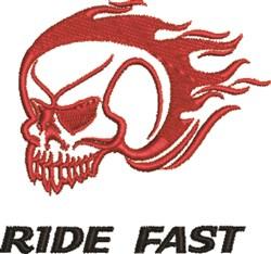 Ride Fast embroidery design