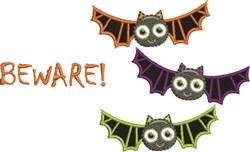 Bats Beware embroidery design